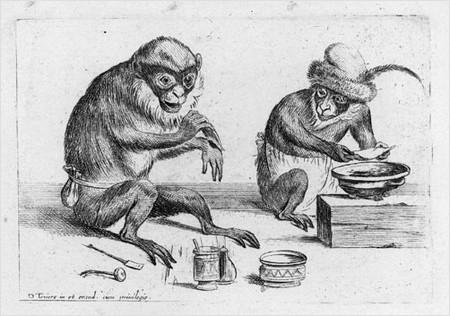 smoking monkeys!