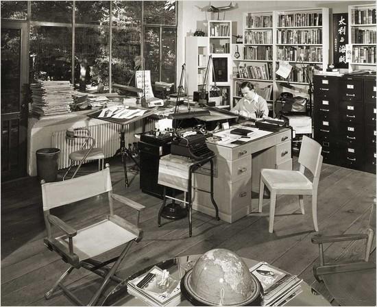 milton caniff's studio, ca. 1947