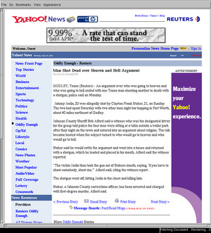 closure reading Yahoo news