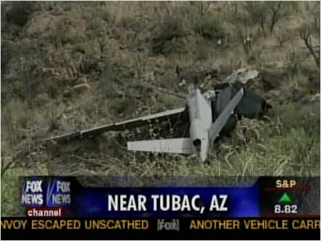 Fox News screenshot of crashed U.S. Border Patrol Predator UAV
