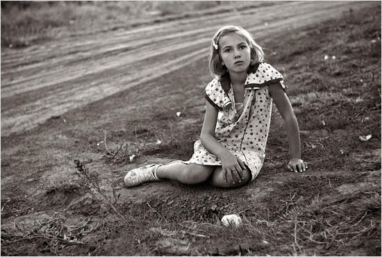 Depression-era farm girl in Nebraska