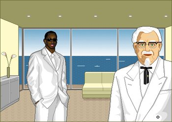 it's been awkward whenever p diddy and the colonel run into one another, after that disastrous memorial day weekend
