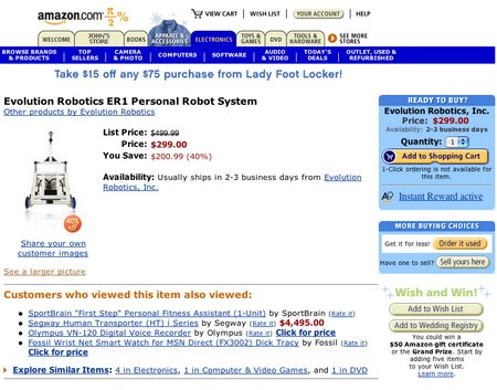 ER1 for sale at amazon