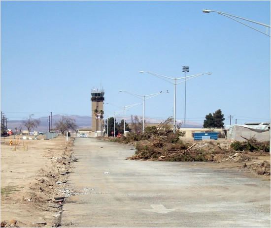 control tower at southern california logistics airport
