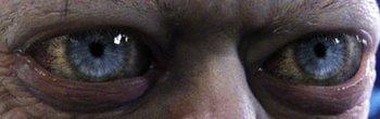 gollum's soulful eyes