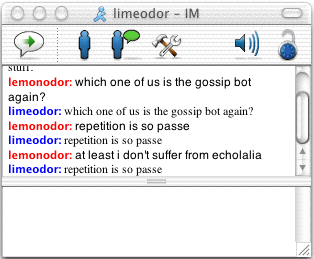 gossip bot in action