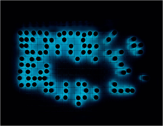 Looks like a pretty and dangerous version of Conway's Game of Life.