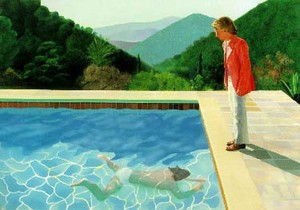 portrait of an artist (pool with two figures), by david hockney