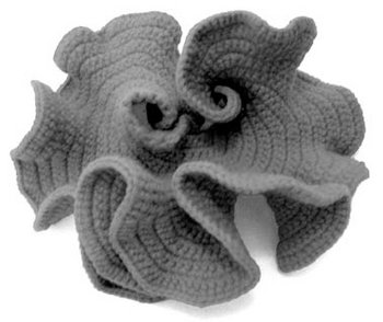 crocheted model of hyperbolic plane by daina taimina