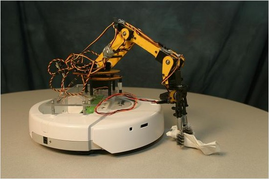 irobot create with a robot arm