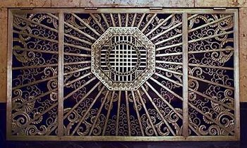 art deco ventilation grill