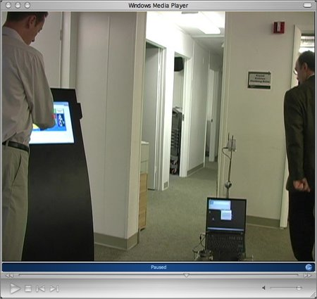 Uri Kartoun driving an ER1 with a touch screen