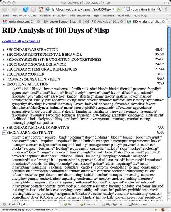 RID report screenshot