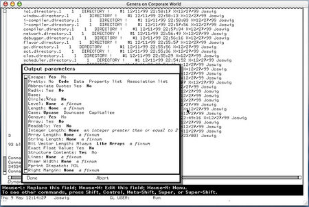 lisp machine screenshot