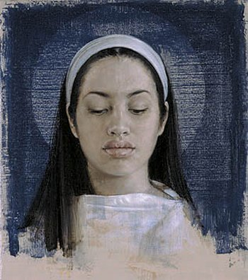 john nava, study for a virgin