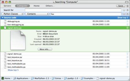 python spotlight plugin screenshot