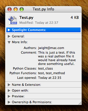 python spotlight plugin screenshot