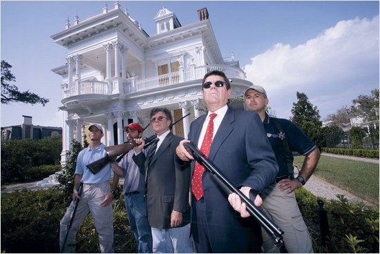 rich white guys with guns in new orleans