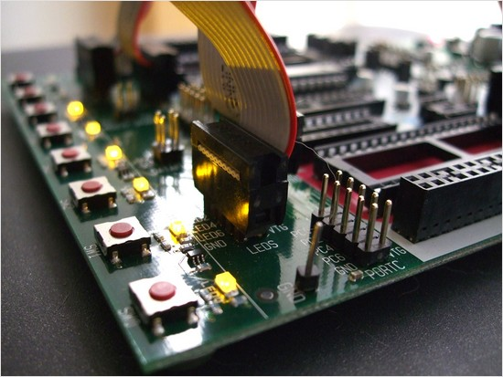 STK500 AVR microcontroller programmer and development board