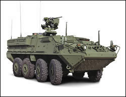 Stryker unmanned armored vehicle