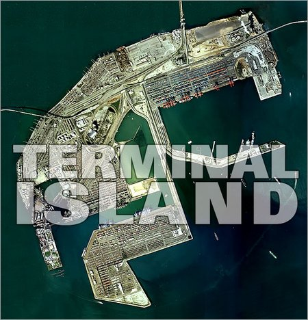 aerial view of terminal island