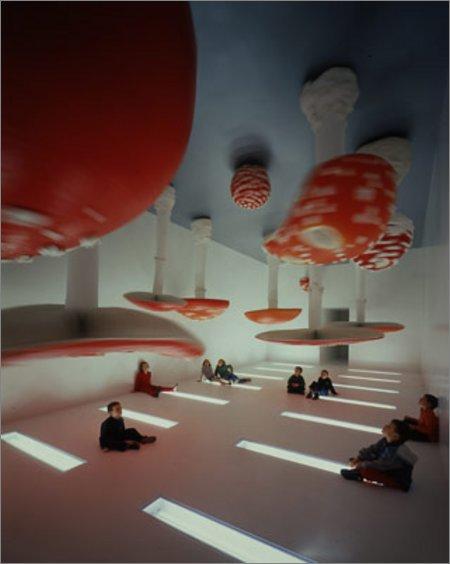 upside down mushroom room
