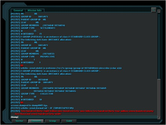 Lisp in the Vendetta Online console
