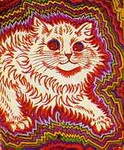 crazy cat by louis wain