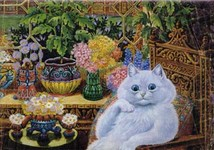 normal cat by louis wain