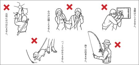 do not use as a ninja climbing stick or breast inspection device
