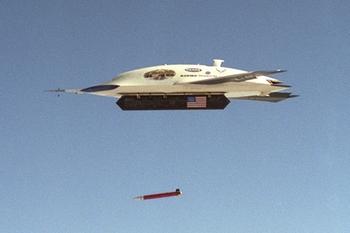 x-45 drops bomb